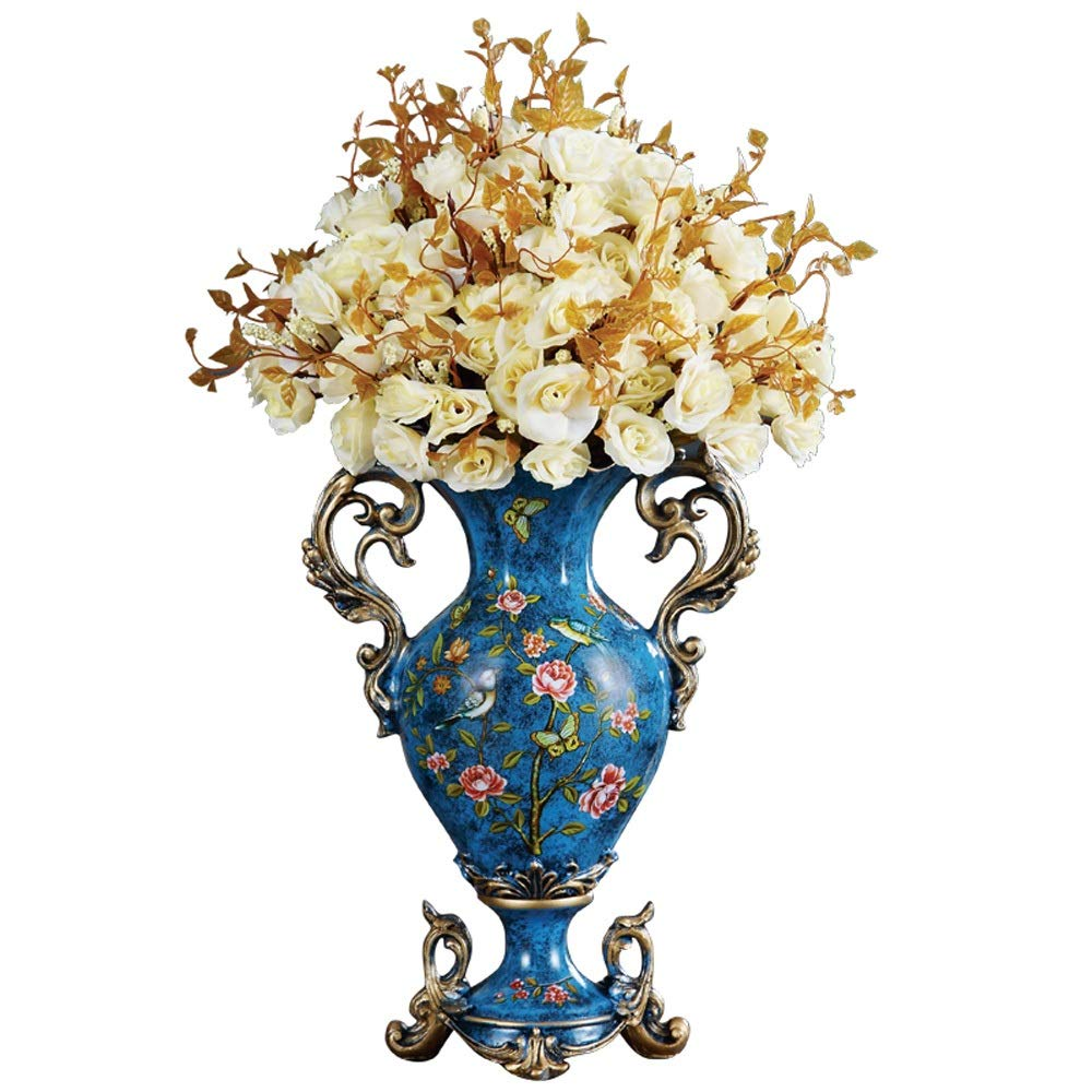 花瓶用花緑植物結婚式植木鉢装飾ホームオフィスデスク花瓶花バスケットフロア花瓶農村スタイル樹脂 B07RDK4NG1