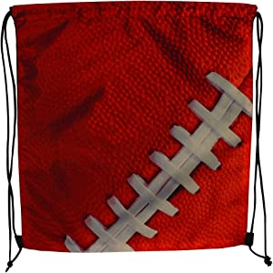 Sports Drawstring Backpack, Football, for your gym class and sports teams - Set of 6