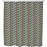 Palu Kele Shower Curtain: Large Waterproof Luxurious Bathroom Design Woven Fabric