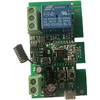 MHCOZY ZigBee Smart Relay-schakelaar, 1 kanaal, 12 V, instelbare selflock- en momentan-werkmodus, werkt met Philips Hue…