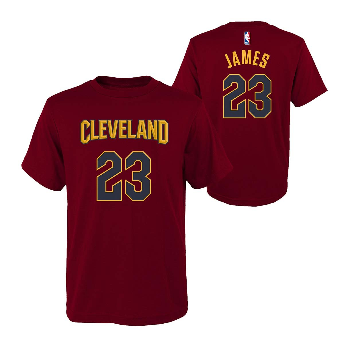 7881eeeed724 Amazon.com   Outerstuff Lebron James Cleveland Cavaliers Youth Maroon Name  and Number Player T-Shirt   Sports   Outdoors