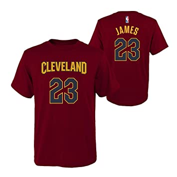 reputable site 571be 45187 Outerstuff Lebron James Cleveland Cavaliers Youth Maroon Name and Number  Player T-Shirt