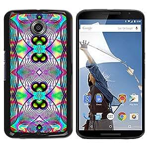 - Acid Trip Psychedelic Trippy Neon/ Duro Snap en el tel??fono celular de la cubierta - Cao - For NEXUS 6 / X / Moto X Pro
