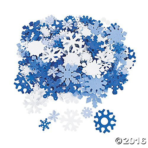 400 Foam Snowflakes for Craft -