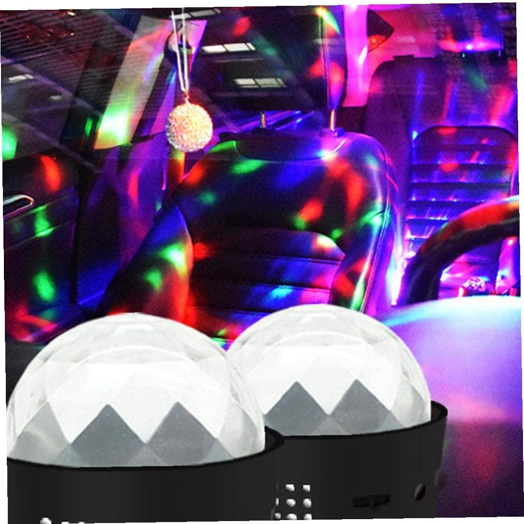 Magie Fest-Lampe Mini B/ühnenbeleuchtung Ton Bunte Kristall Rotierenden Kugel 3LED Stroboskop F/ür Auto Wedding Show KTV Bar DJ Ballroom Home Club Pub USB Lade Activated Bequeme Disco-Licht