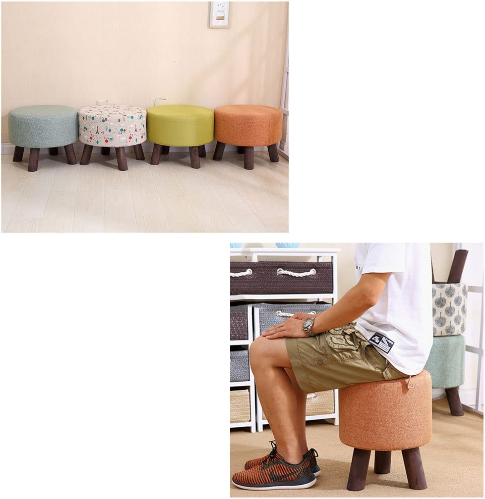 RUNWEI Fußbank Massivholz hocker Mode Stoff Sofa hocker Wohnzimmer Dekoration Dekoration (Color : Blue) Gray