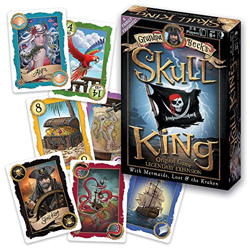 Grandpa Beck's Skull King Card Game + Legendary Expansion - Family-Friendly Trick-Taking Game - Enjoyed by Kids, Teens, & Adults - by The Creators of Cover Your Assets - Ideal for 2-6 Players Ages 8+