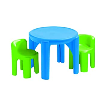 Little Tikes Kids 3 Piece Table Chair Set Kids Play Table
