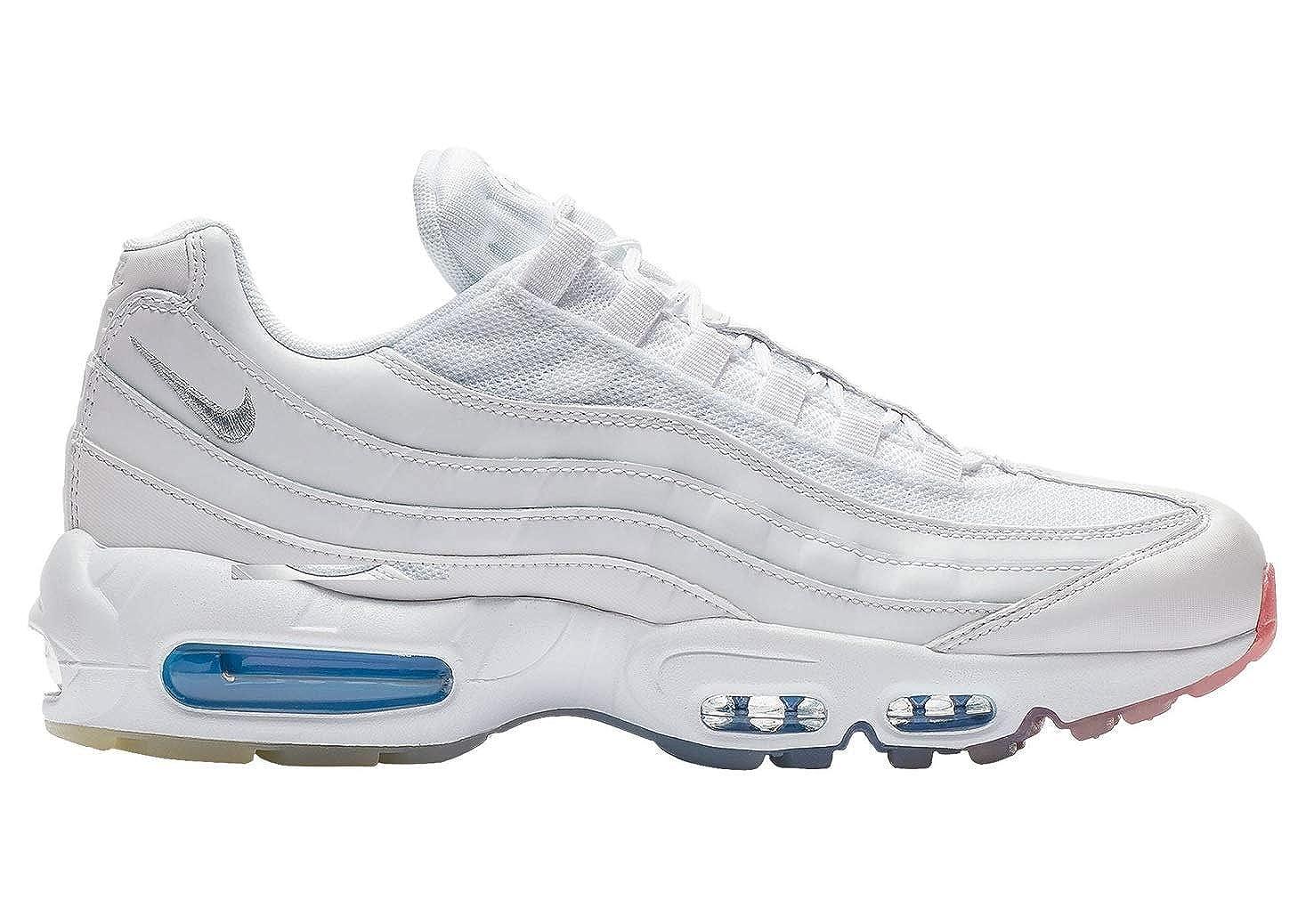 White Metallic Silver-photo bluee Nike Air Max 95 No-Sew Men's shoes Grey