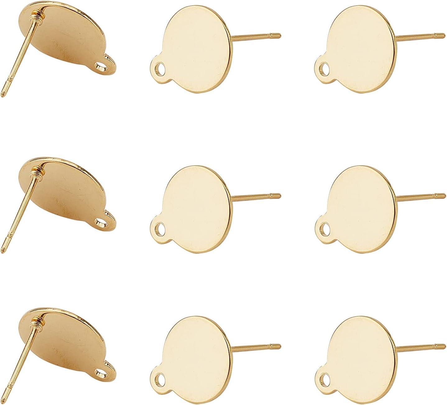 leaf stud 2 PCS making jewelry charm pendant Rubber Coated 5 Leaves 1 hole earring post 1 PAIR EM0161E-BE -  21 x 20 mm Dark Beige