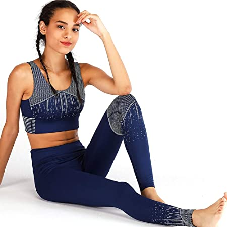 XYAIPR Ropa de Yoga, Mujer, Conjunto de Dos Piezas ...
