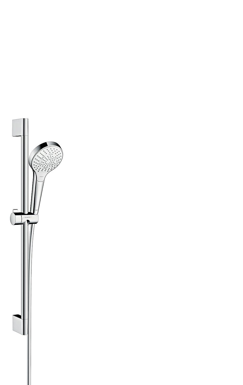 Hansgrohe 26560400 Croma Select S 110 Multi set de ducha, 0,65m, 3 tipos de chorro, blanco/cromo