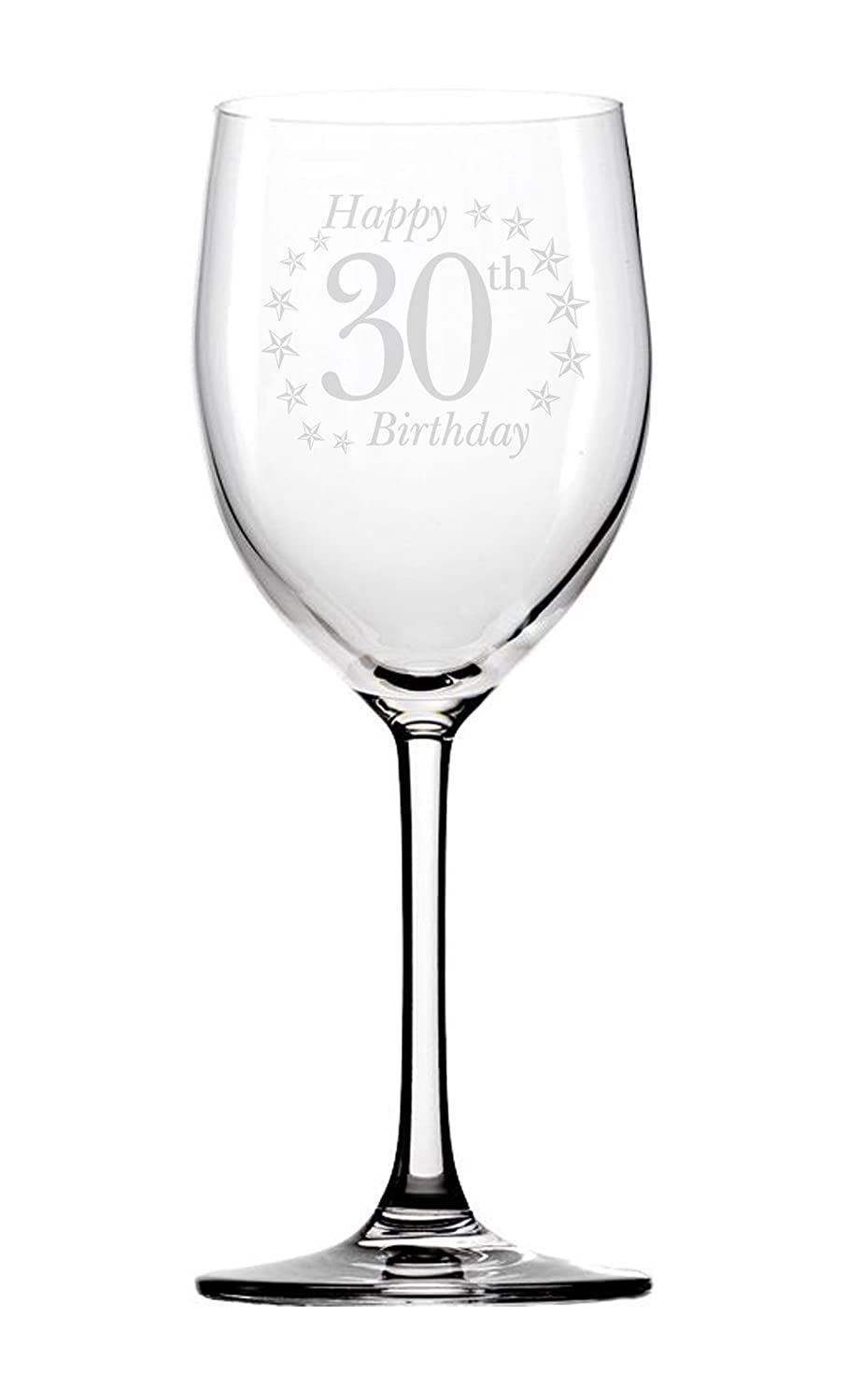 Chris Bag of Goodies Happy 30th 30 Birthday Engraved Wine Glass Novelty Gifts Present Women Her Girls Girl