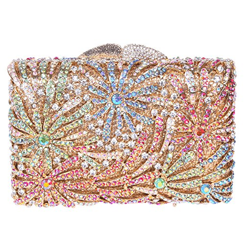 Fawziya Firework Party Clutch Purses For Women Rhinestone Clutch Evening Bag-Multicolor (Silk Evening Shoes)