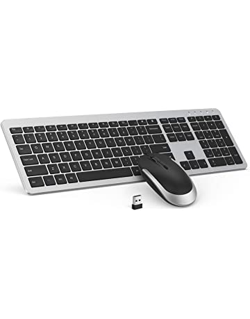 81d4e6f42c6 Wireless Keyboard and Mouse Combo - seenda Full Size Slim Thin Wireless Keyboard  Mouse with On
