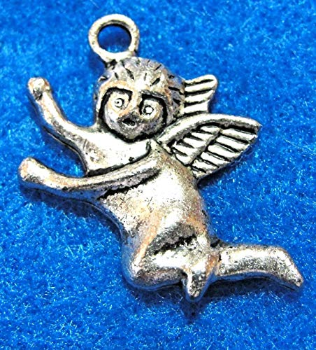 - 10Pcs. Tibetan Silver Cute Angel Charms Pendants Earring Drops Findings AF15 Crafting Key Chain Bracelet Necklace Jewelry Accessories Pendants