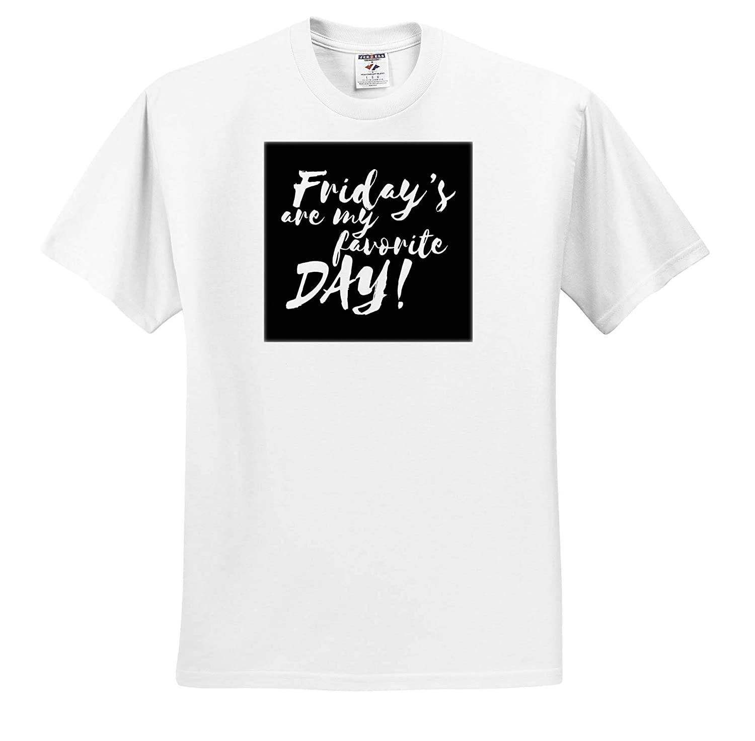 3dRose Sven Herkenrath Quotes T-Shirts Friday is My Favorite Day Happy Weekend