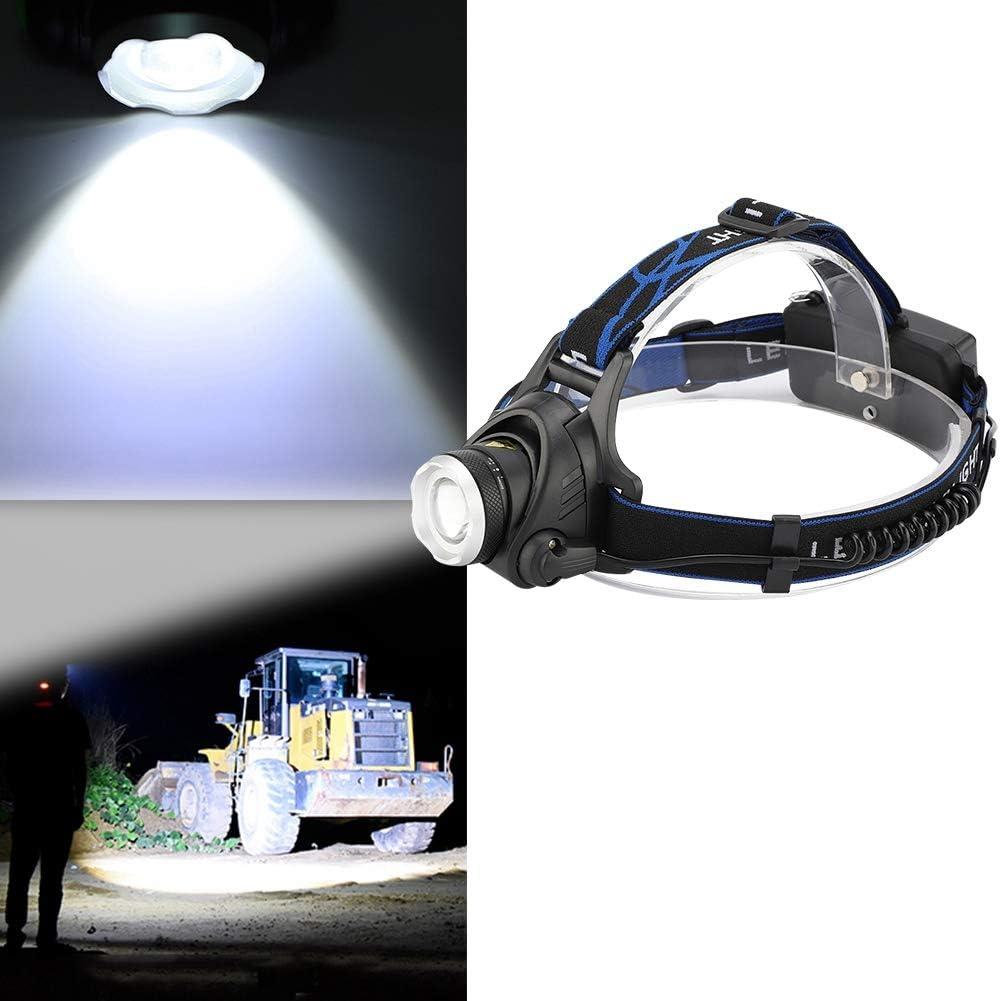 Linterna Ajustable port/átil con iluminaci/ón Impermeable para Caza eecoo Linterna Frontal para Exteriores de Larga Distancia de iluminaci/ón Linterna LED de Distancia con 3 Modos de luz Ciclismo