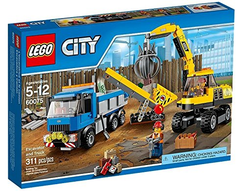 LEGO City Demolition 60075 Excavator and Truck (Lego City Recycling Truck)