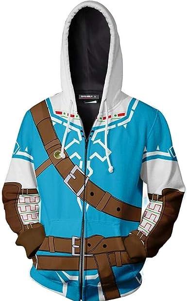 The Legend of Zelda Link Outfit Cosplay Costume Sweater Hoodie Zip Coat Jacket