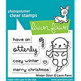 "LAWN FAWN Clear Stamps 3""X2"" Winter Otter (LF1474)"