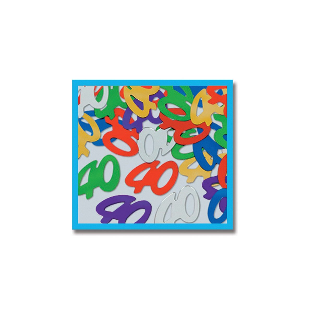 Party Central Club Pack of 12 Multi-Colored Fanci-Fetti 40'' Celebration Confetti Bags 0.5 oz.