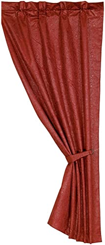 HiEnd Accents Cheyenne Faux Leather Single Panel Curtain