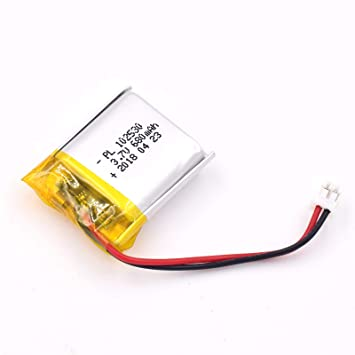 3.7V 680mAh 102530 Lipo battery Rechargeable Lithium Polymer ion Battery Pack with JST Connector