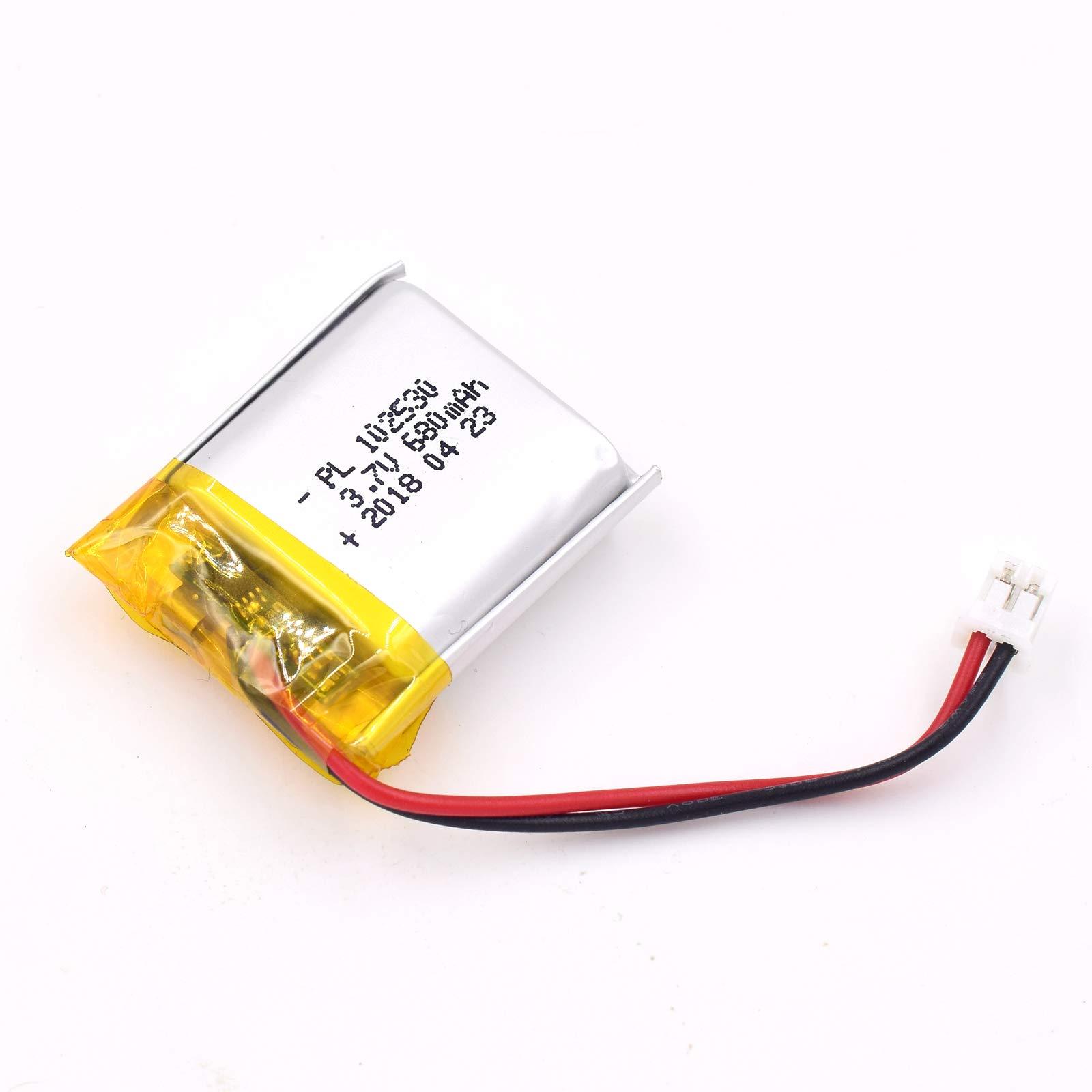 Bateria LIPO 3.7V 680mAh 102530