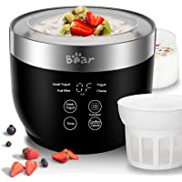 Yogurt Maker, Yogurt Maker Machine with Stainless Steel Inner Pot, Greek Yogurt Maker with Timer Control, Automatic…