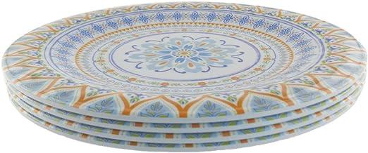 4 Piece Melamine Dinnerware Sets Of Gorgeous Pattern 11 Inch Dinner Plate Yellow Dinner Plates