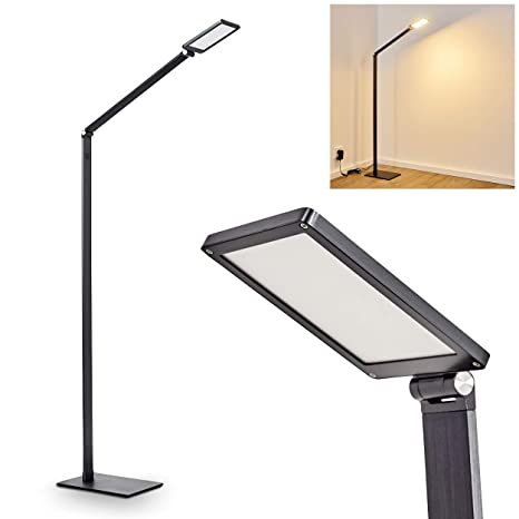 Lámpara de pie LED Muture en gris oscuro - para salón ...