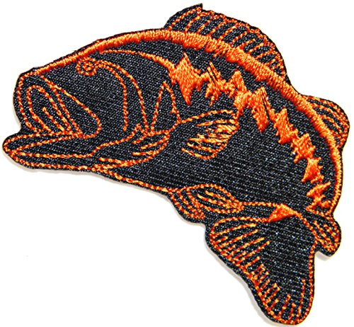 Bass Fishing Lure Hook Logo Jacket T shirt Patch Sew Iron on Embroidered Badge Sign (Fishing Bobber Costume)