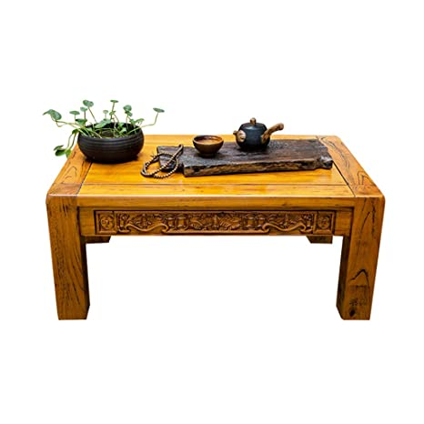 Amazon.com: Coffee Tables Small Table Old Elm Antique Living ...