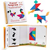 Coogam Travel Tangram Puzzle - Magnetic Pattern Block Book Road Trip Game Jigsaw Shapes Dissection STEM Games with…