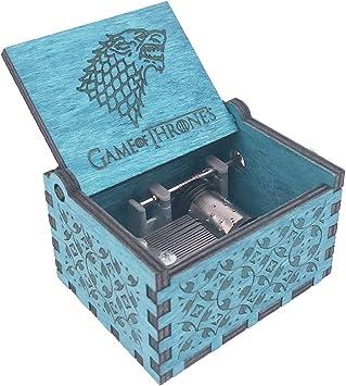 Caja musical de madera tallada con manivela de Juego de Tronos ...