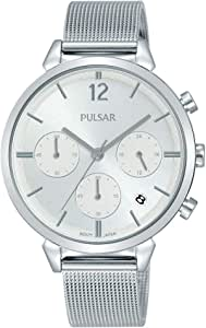 Pulsar Womens Analogue Analog Quartz Watch with Stainless Steel Strap PT3943X1