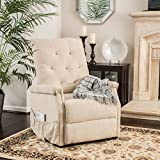 Warrington Living Room Furniture ~ Fabric Lift Up Recliner Chair (Wheat)