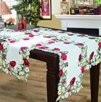Editex Home Curtain Holiday Themed Table Runner, 16 by 43-Inch, Kalanit