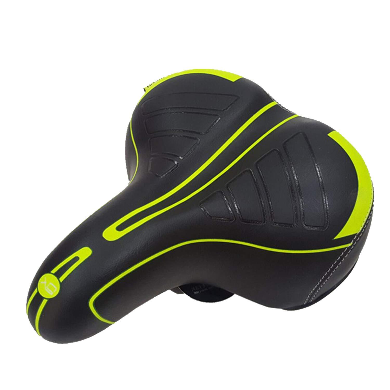 BWBIKE Wide Soft Flexible Cojín del asiento de la bicicleta Diseño a prueba de golpes Big Bum Sillín de confort extra para bicicleta de montaña MTB, ...