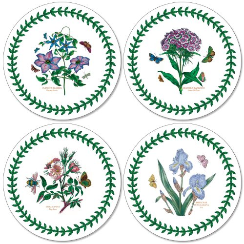 Portmeirion Coasters - Pimpernel Botanic Garden Coasters - Round - Set of 4