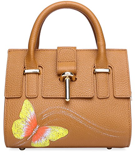 Genuine Designer Bag Shoulder Tan Purses Summer Leather Light Women's 8003 8003 PIJUSHI Bag CrossBody fnqpCq