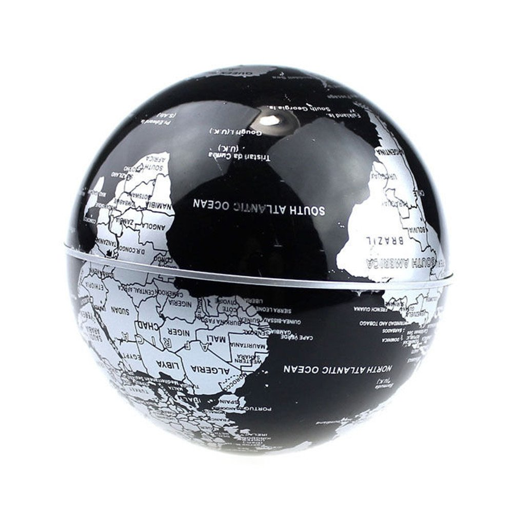 Buy senders floating globe with led lights c shape magnetic buy senders floating globe with led lights c shape magnetic levitation floating globe world map for desk decoration black silver online at low prices in gumiabroncs Image collections