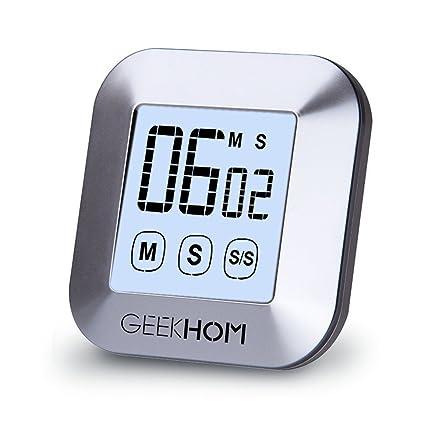 GEEKHOM timer da cucina magnetico, timer touch screen digitale con ...