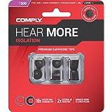 Comply Foam Premium Earphone Tips - Isolation T-500 (Black, 3 Pairs, Medium)