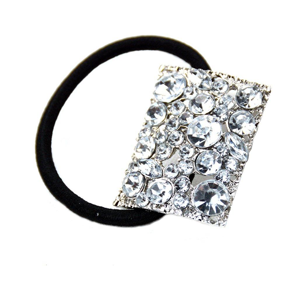 50PCS Hair Band Tie Elastic Rope Ring Hairband Ponytail Holder Braiding UK