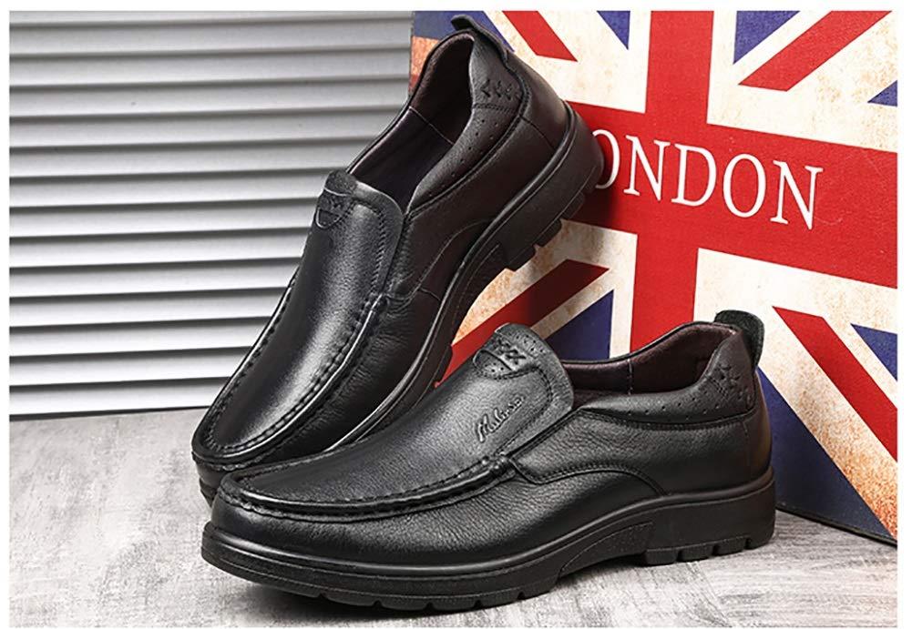 LXLA- Zapatos De Cuero Slip-on Slip-on Slip-on Ocasionales De Los Hombres De Negocios, Zapatos De Trabajo Antideslizantes Principales Redondos De Los Hombres para Los Hombres (Color : Negro, Tamaño : 44) e6a3ac