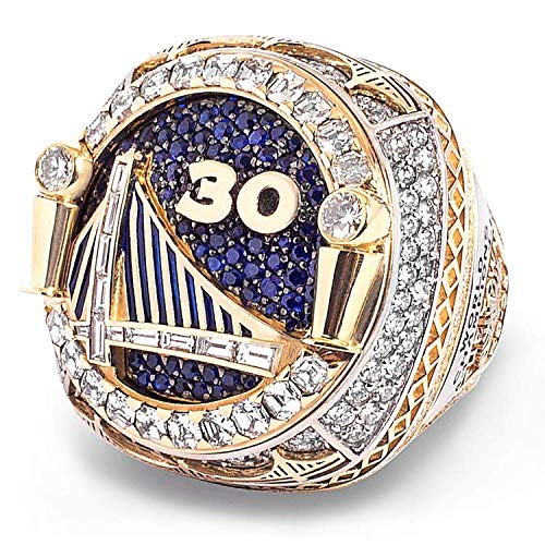 MVPRING Basketball Championship Replica Ring:1991-2018 Warriors Lakers Bulls Celtics Spurs Rockets Cavaliers Pistons Heat Mavericks, Size 11 (2018 Warriors Durant)