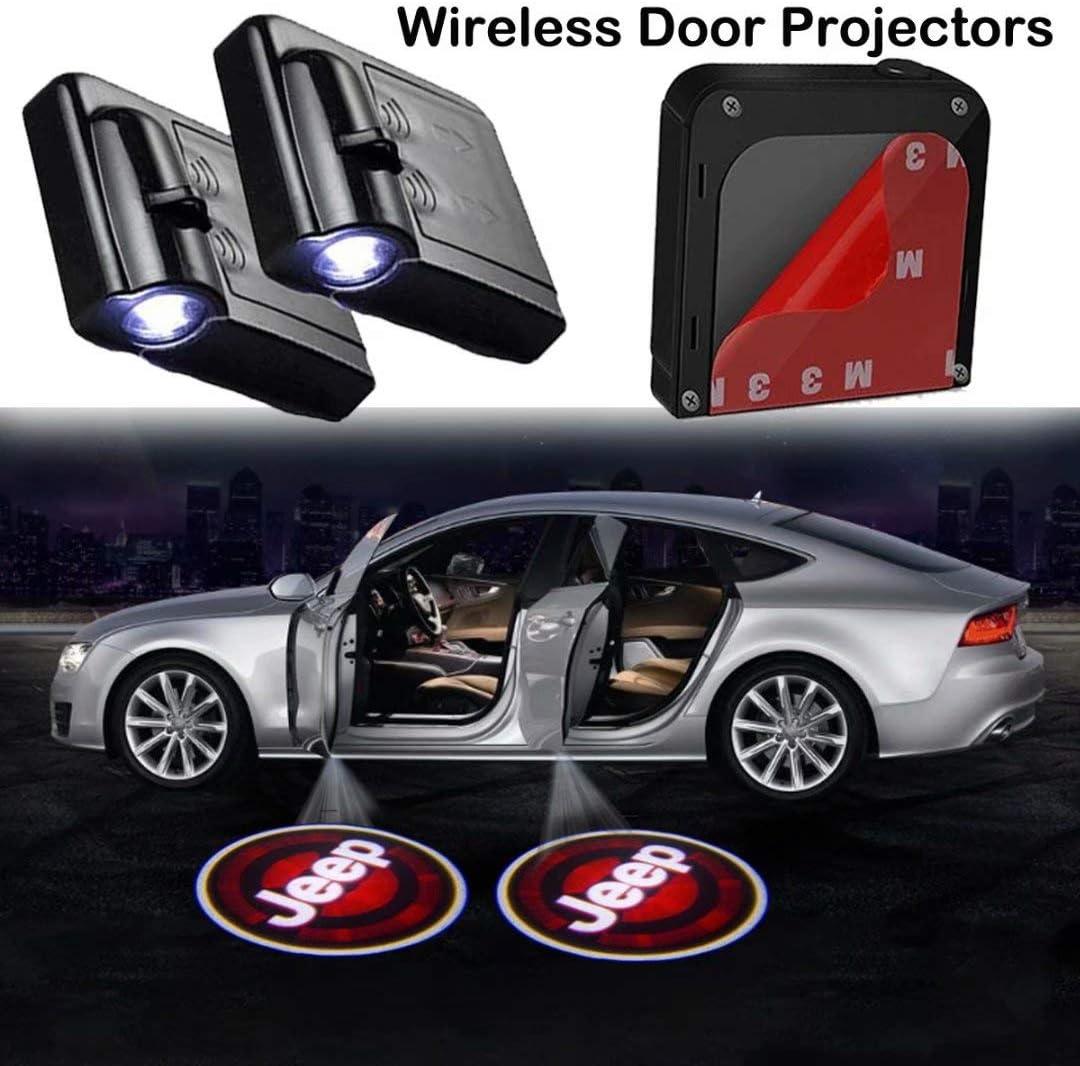 2Pcs Car Door Lights Logo Projector fit MERCEDES-BENZ,Wireless Car Door Paste Projector Logo Lights Led Logo Projector Lights Shadow Ghost Light Welcome Courtesy Lights