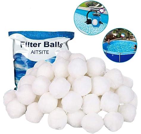 WBYJ Bolas de Filtro Bola de Filtro para Piscina Bolas de Filtro de Fibra Acuario y Pecera 700g Filter Balls puede Remplazar 25kg de Arena de Filtro Alternative Bolas Filtrantes para Piscina